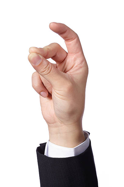 Snapping Finger A hand of a businessman doing finger snapping hand sign, isolated on white background. snapping stock pictures, royalty-free photos & images