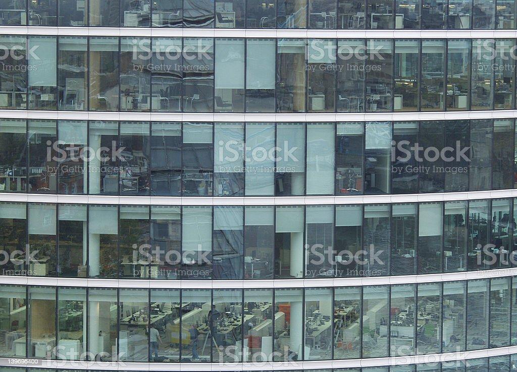 Snapshot of an office block stock photo