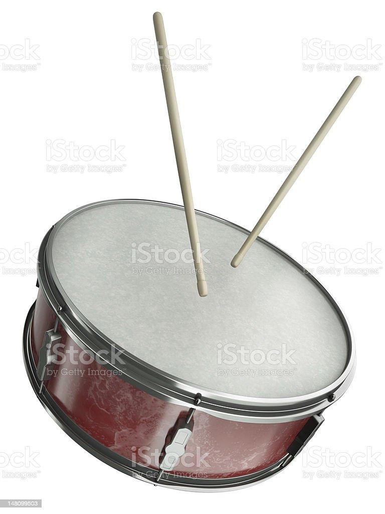 Kleine Trommel und drumsticks – Foto