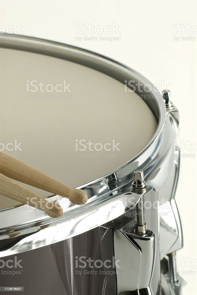 Snare Drum and Drumsticks royalty-free stock photo