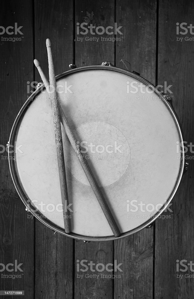 Snare Drum With Sticks stock photo