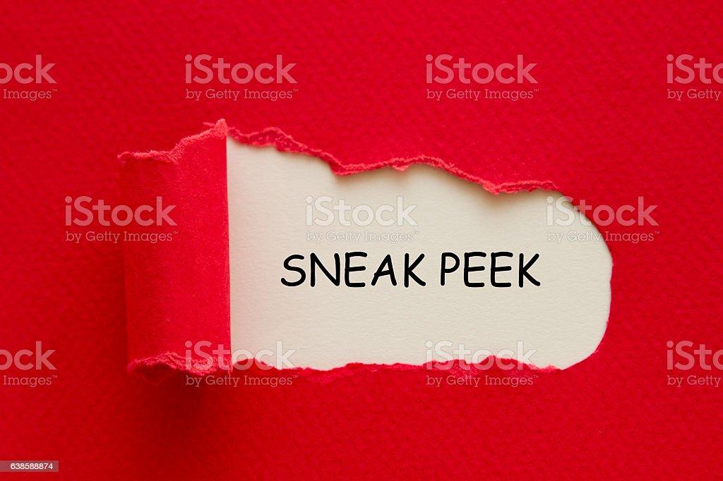 Sneak Peek stock photo