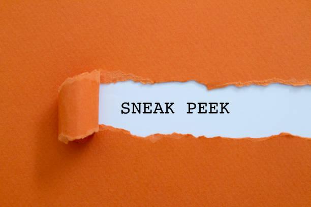 voorproefje - sneakpreview stockfoto's en -beelden
