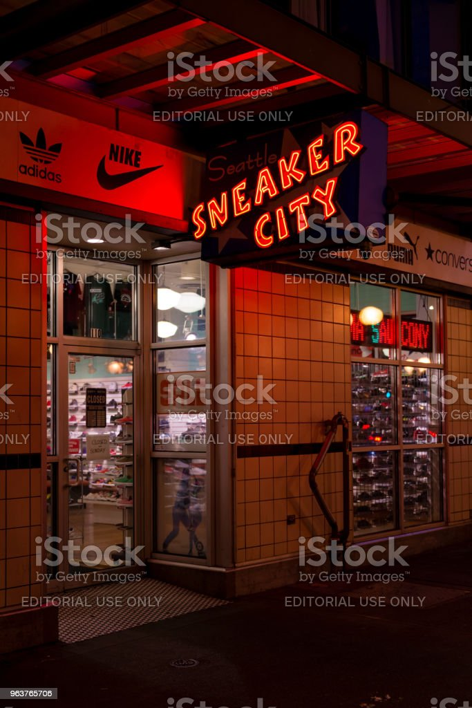 Sneaker City stock photo