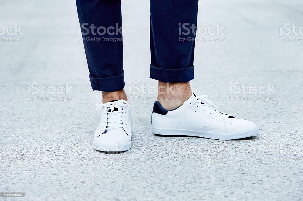 Sneaker close up