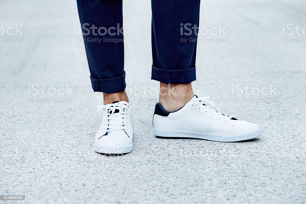 Sneaker close up stock photo