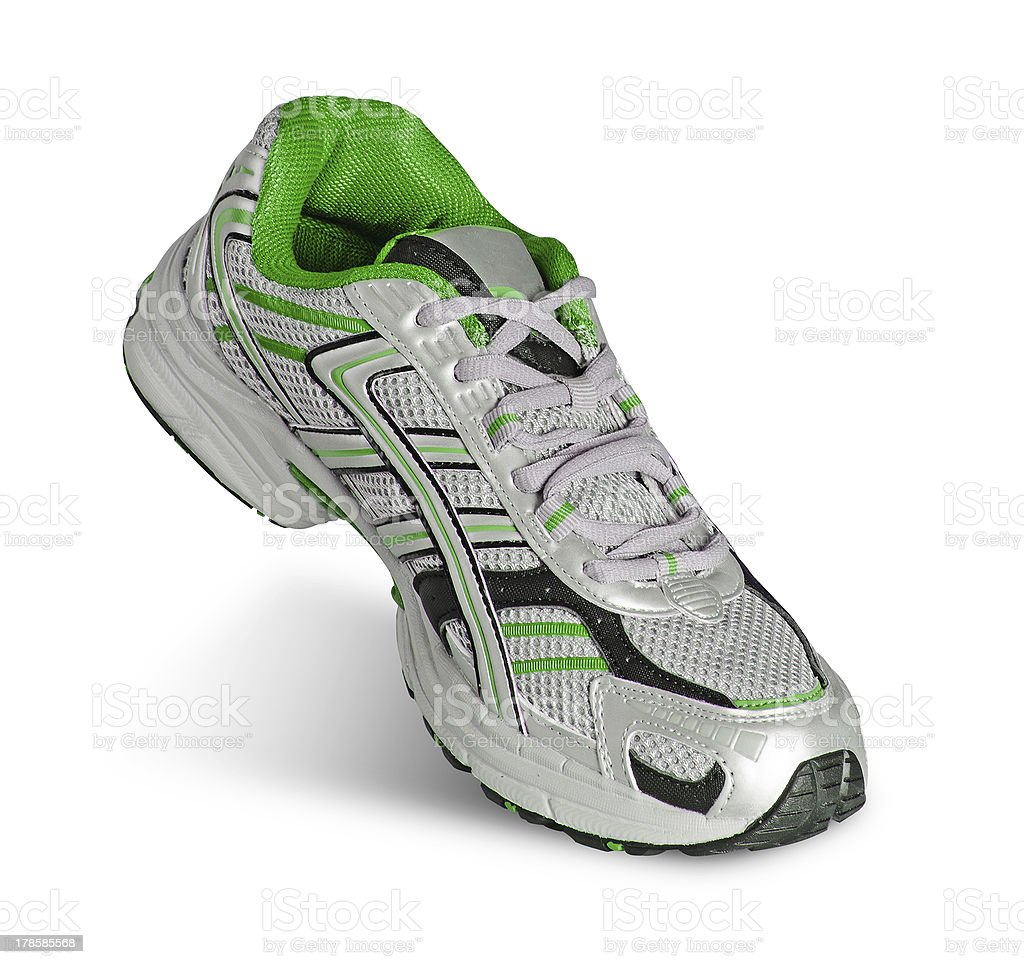 Sneaker isolated on white background stock photo