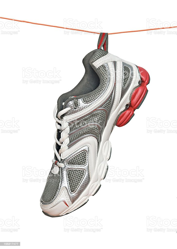 Sneaker on line stock photo