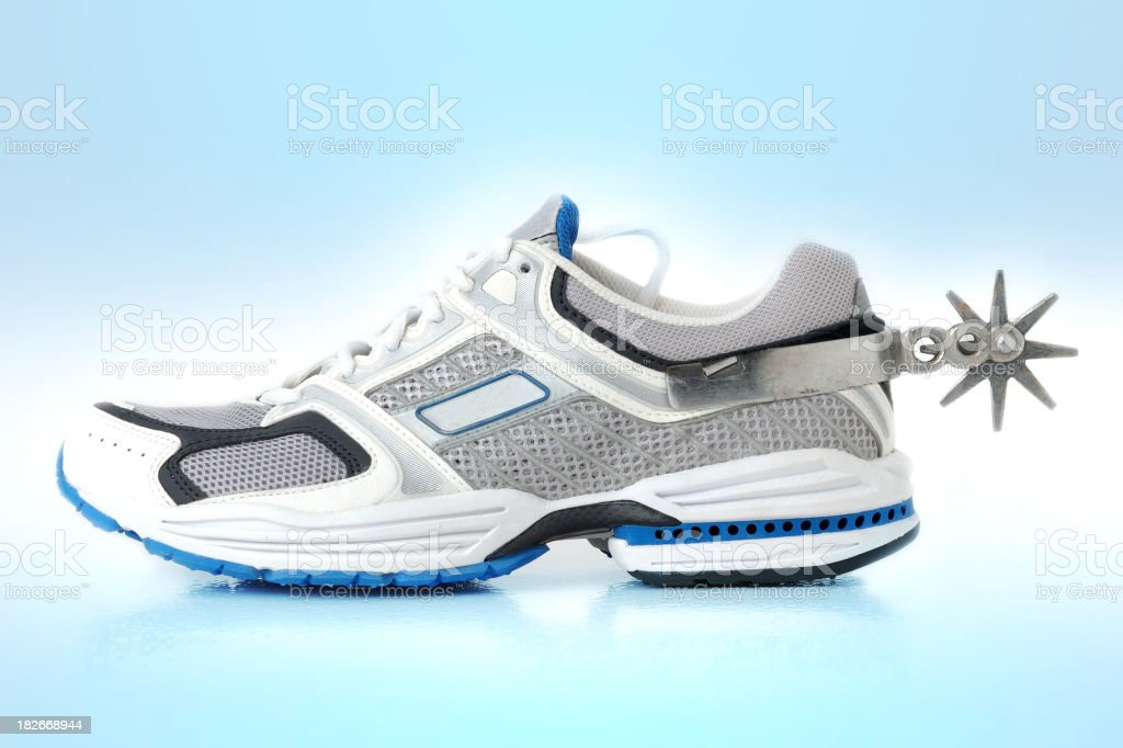sneaker on steroids royalty-free stock photo