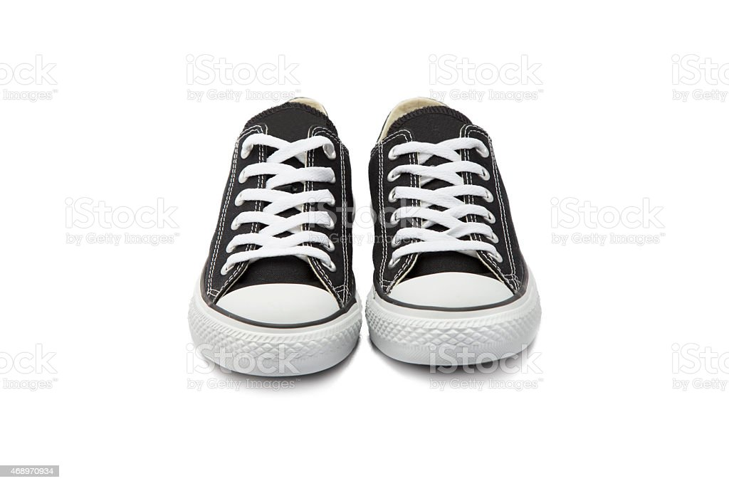 Sneaker on White Background stock photo