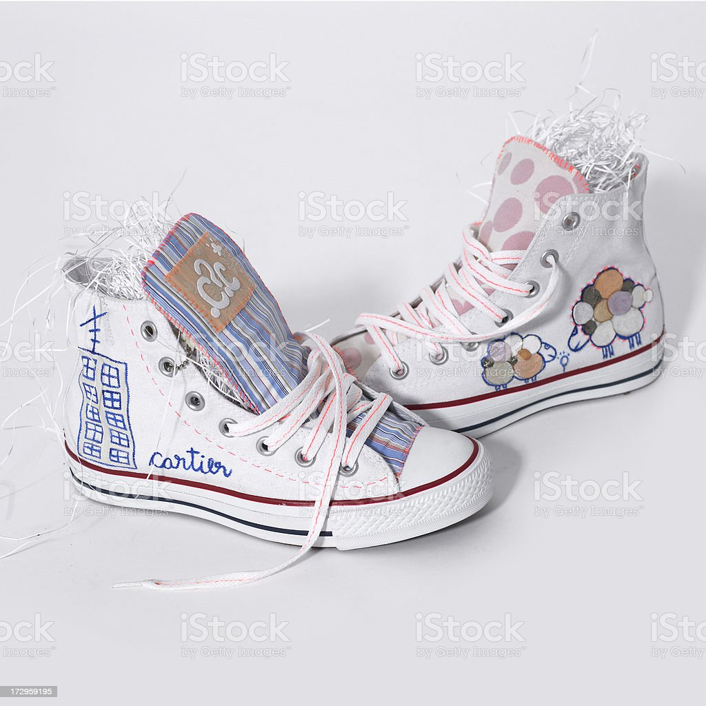 Sneakers customized royalty-free stock photo