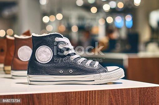 istock Sneakers in a luxury store 848273734