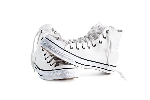 Sneakers isolated with clipping path Sneakers isolated on a white background with clipping path. all star stock pictures, royalty-free photos & images