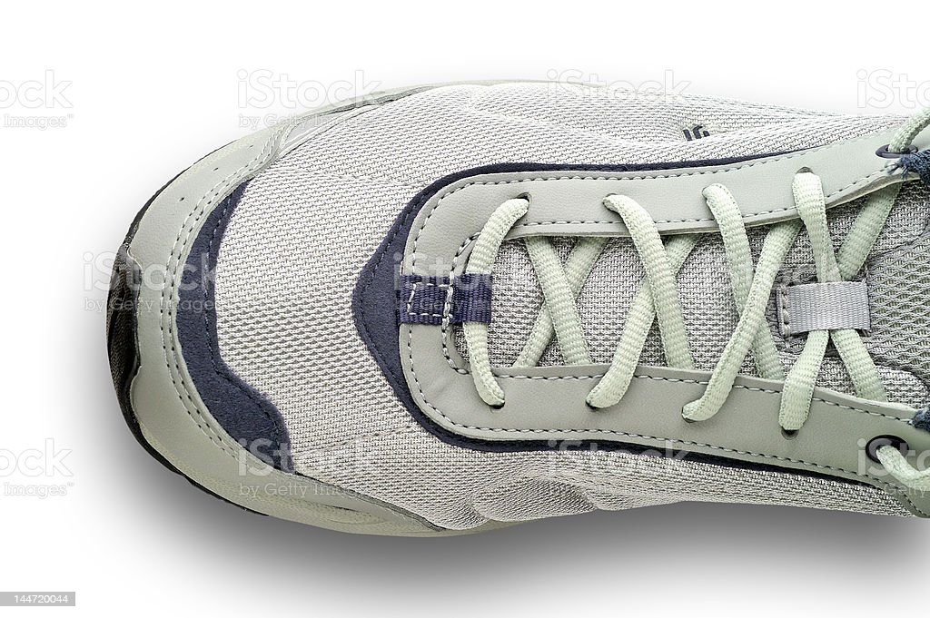 Sneakers lacing with clipping path royalty-free stock photo