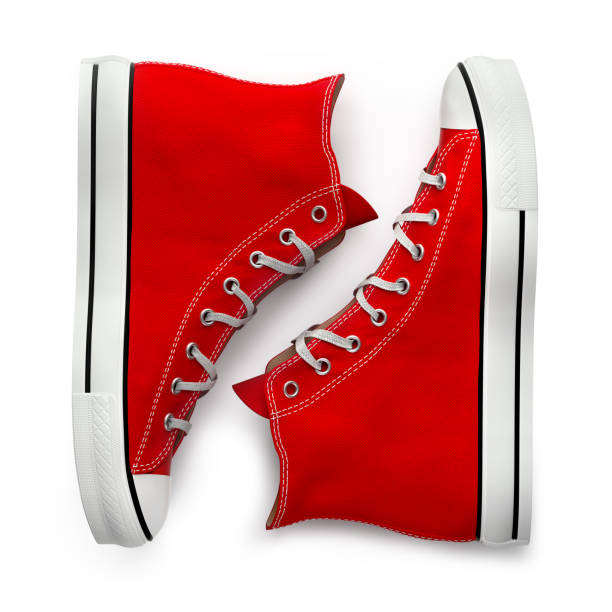 sneaker da - icon set healthy foto e immagini stock