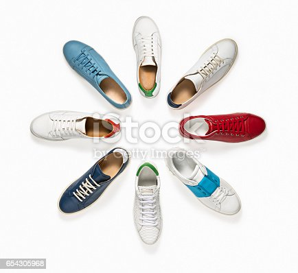 Sneakers isolated on white background ( with clipping path)