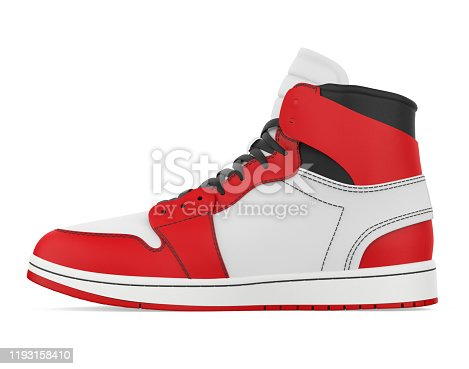 Sneakers Shoe isolated on white background. 3D render