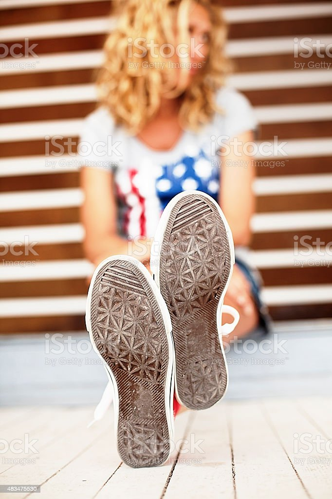Sneakers sole stock photo