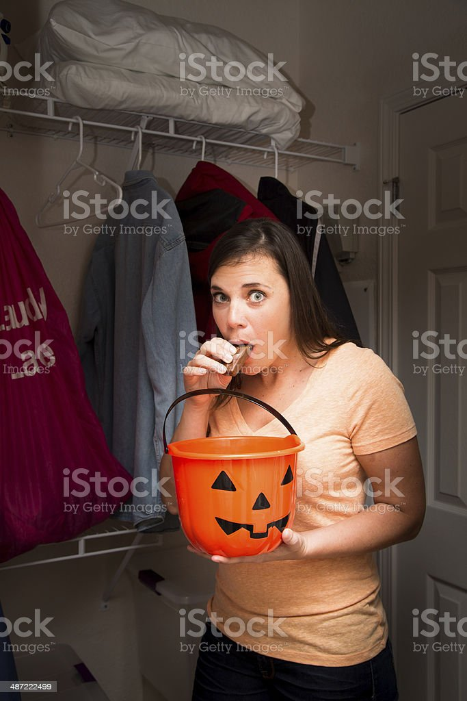 Sneaking a snack stock photo