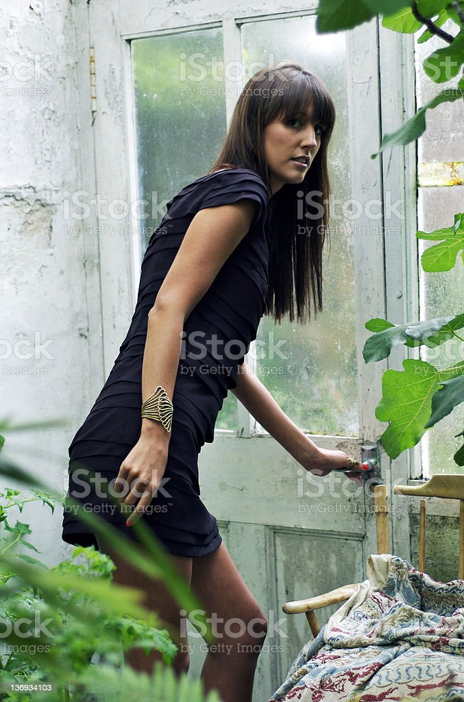 Sneaking Out stock photo