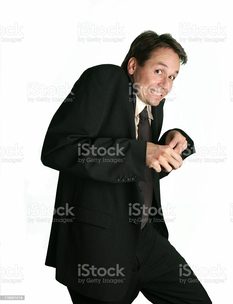 Sneaky Business royalty-free stock photo
