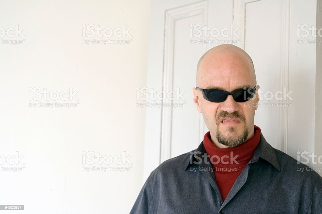 Sneering Man royalty-free stock photo