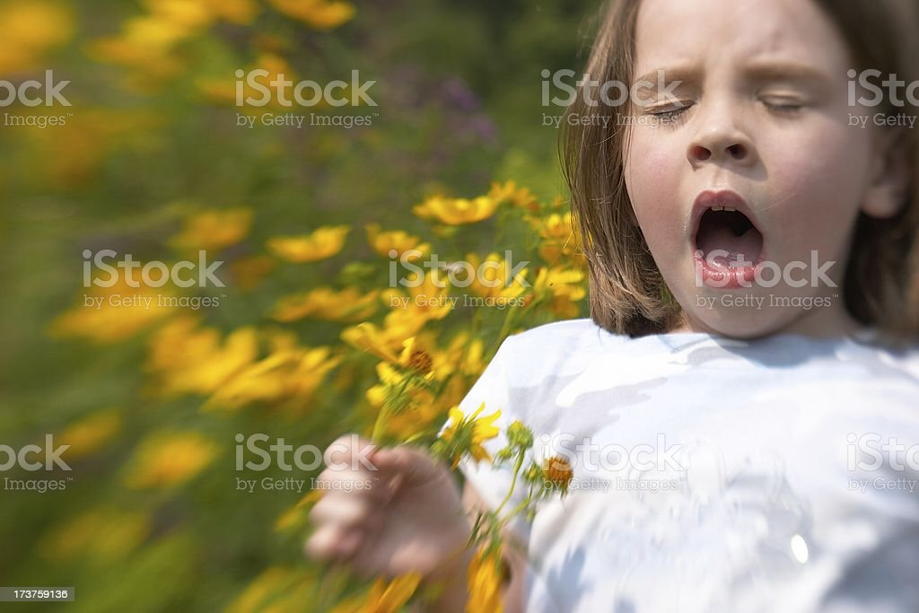 sneeze I stock photo