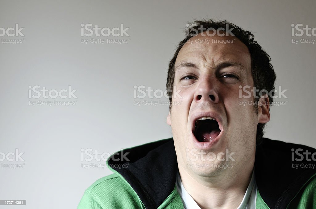 sneeze man royalty-free stock photo