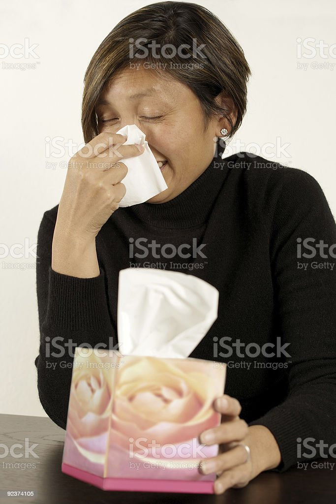 Sneeze royalty-free stock photo