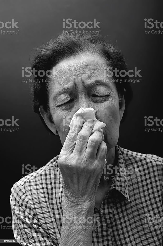 sneezing royalty-free stock photo