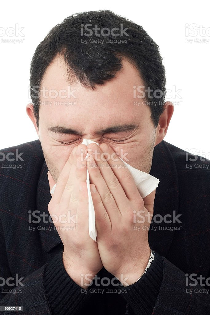 sneezing royalty-free stock photo