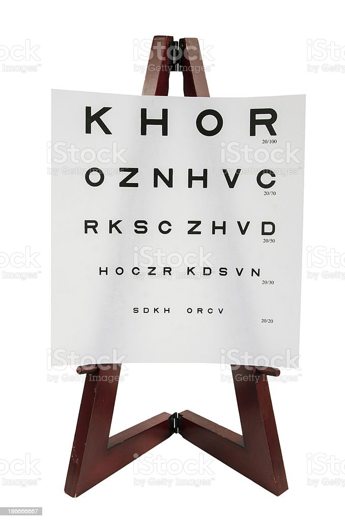 Snelling Eye Chart Poster On Easel Stock Photo More Pictures Of