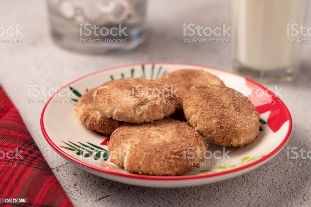 Snicker Doodle Cookies for Holiday stock photo