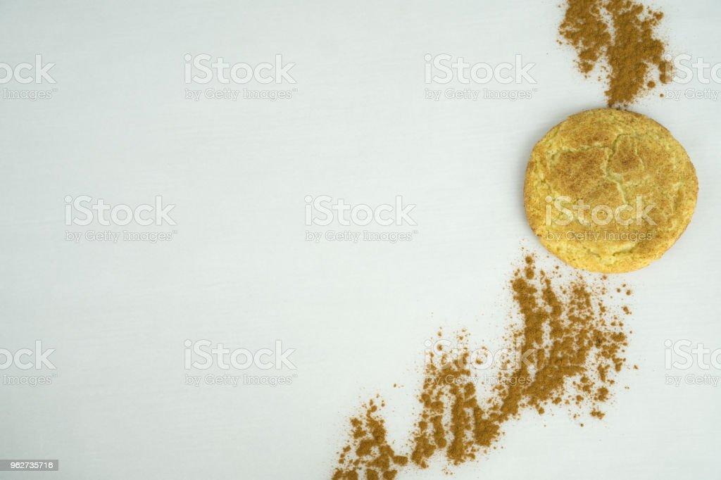 Snickerdoodle Cookie with Organic Cinnamon stock photo