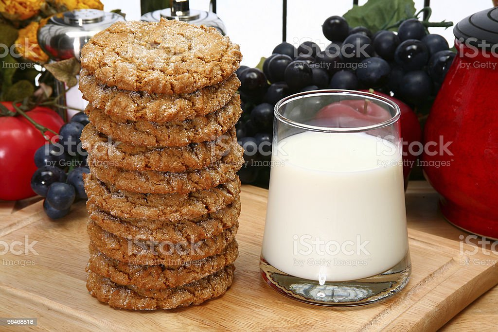 Snickerdoodles and Milk royalty-free stock photo