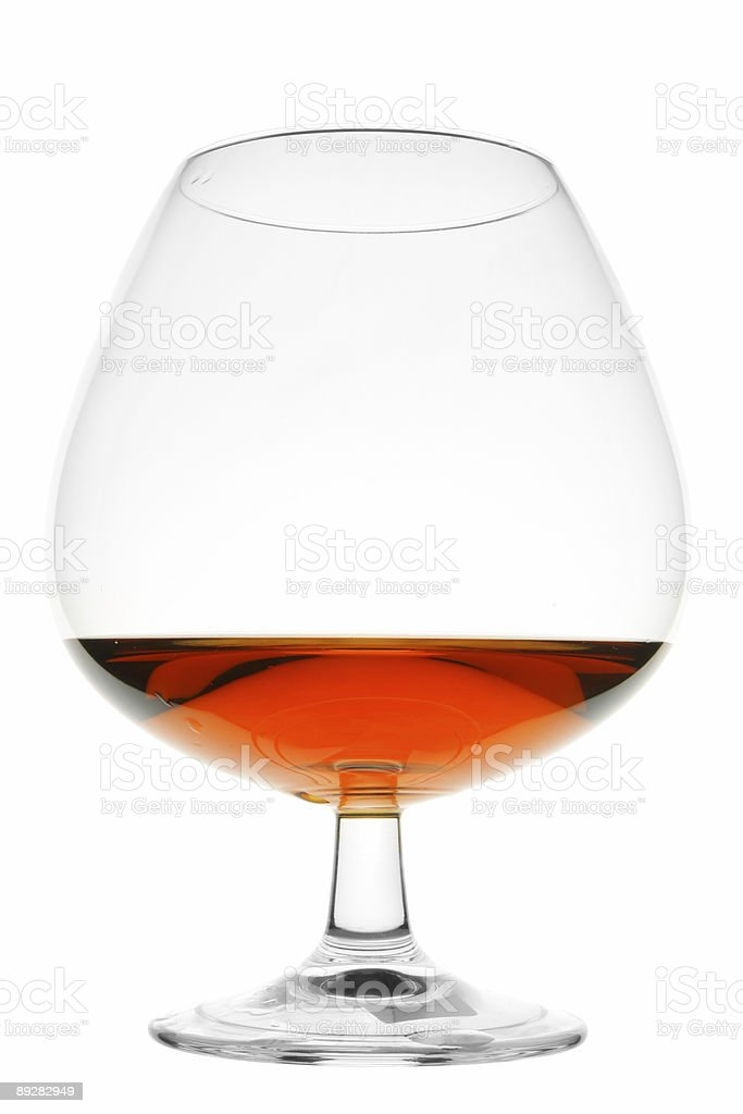Snifter glass of brandy royalty-free stock photo