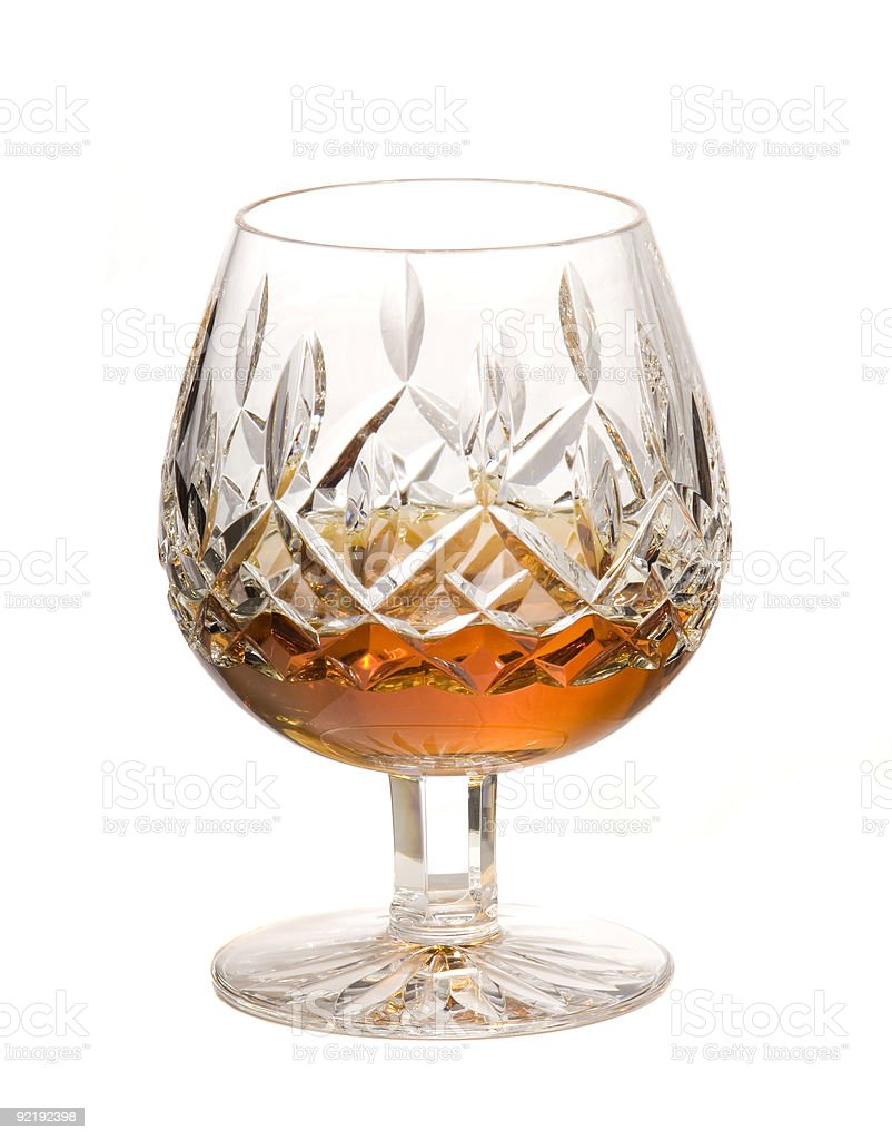Snifter of Cognac stock photo
