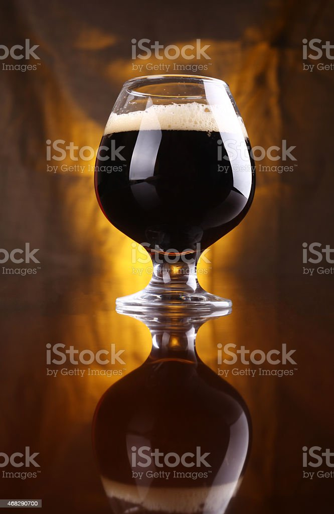 Snifter of stout stock photo