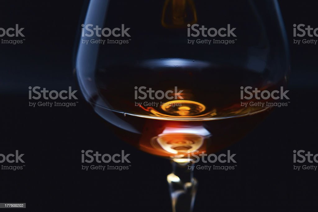 snifter with brandy royalty-free stock photo