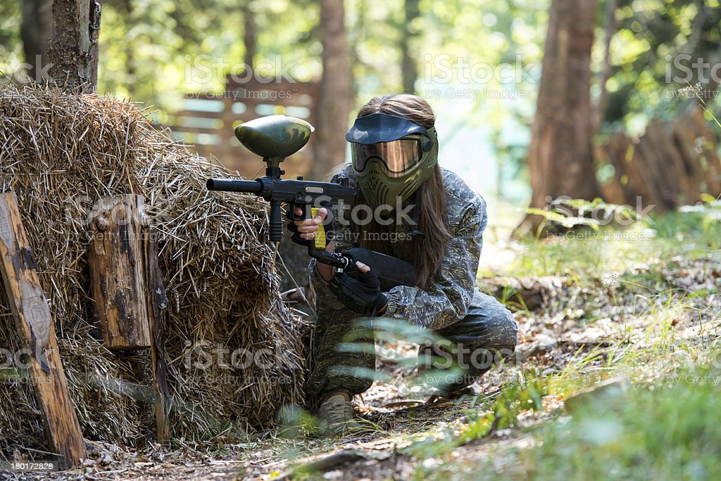 Sniper Aiming Gun stock photo
