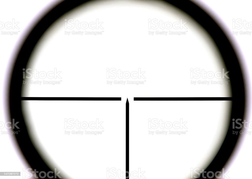Sniper on white background stock photo