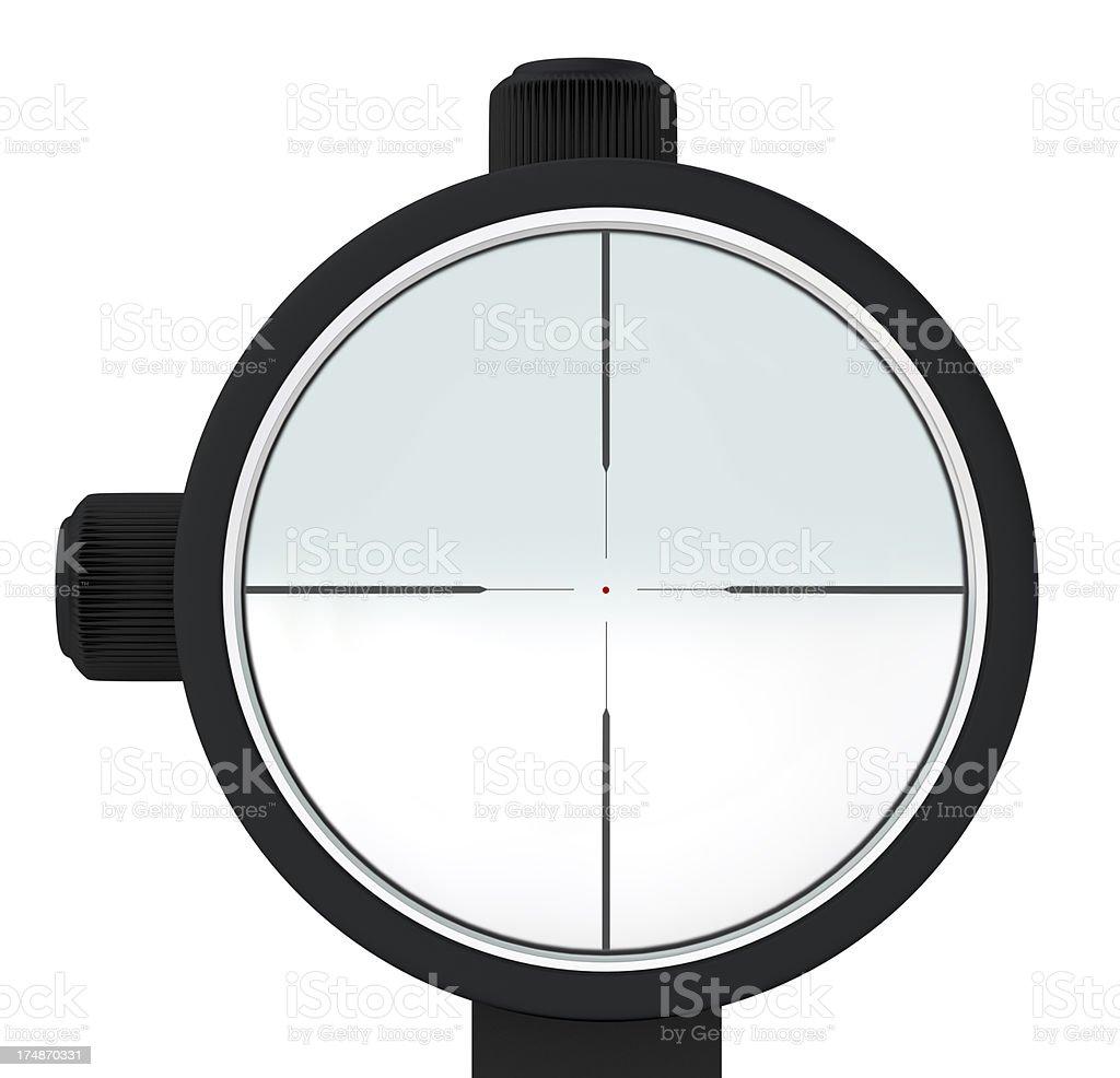 Sniper optical sight stock photo