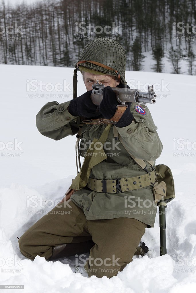 WW2 Sniper. stock photo
