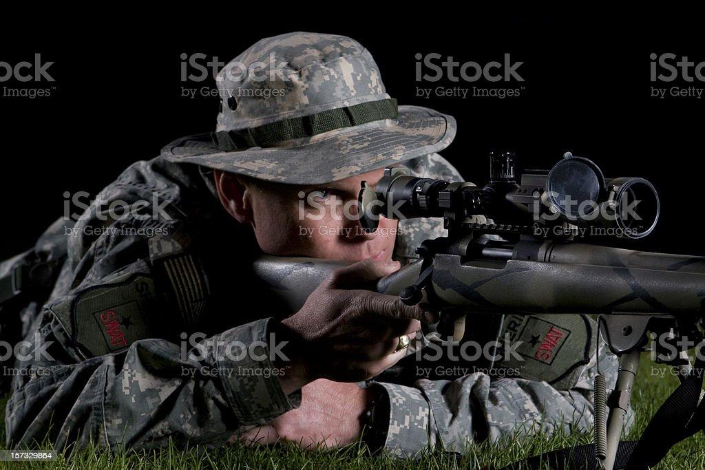SWAT Sniper royalty-free stock photo