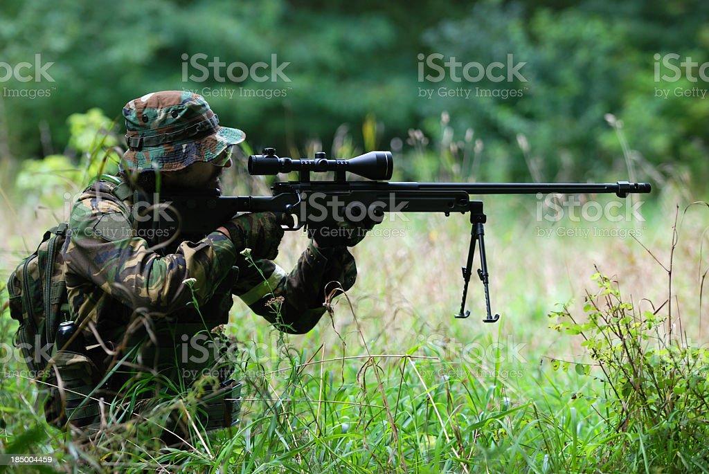 Sniper stock photo