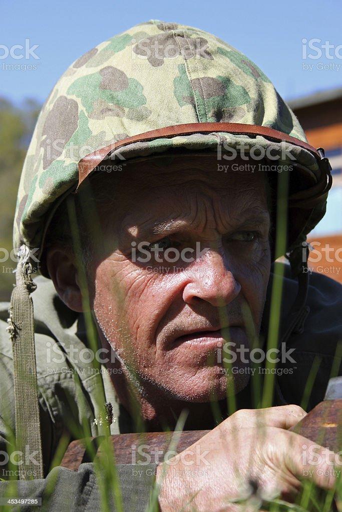 WW2 Sniper. stock photo