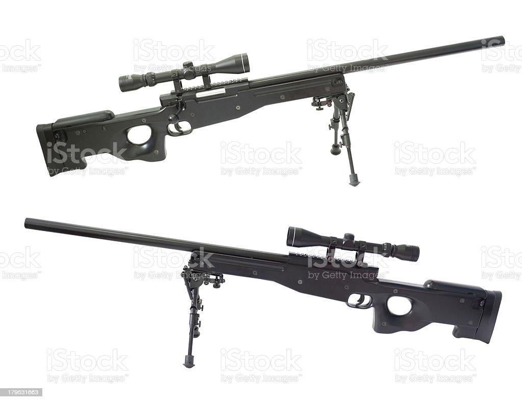 Sniper rifle gun. stock photo