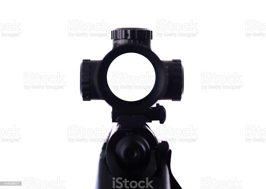 sniper rifle scope royalty-free stock photo