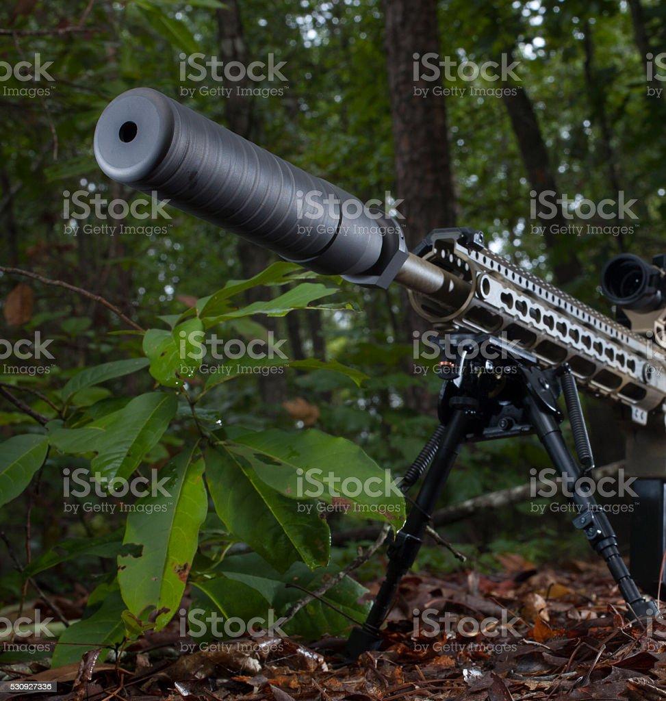 Sniper setup stock photo