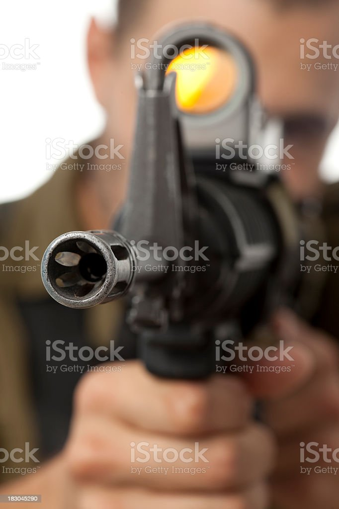 Sniper shooting. royalty-free stock photo